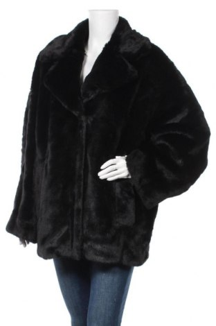 Дамско палто Weekday, Размер M, Цвят Черен, 50% акрил, 28% модал, 22% полиестер, Цена 61,56лв.