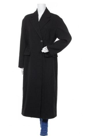 Дамско палто Weekday, Размер M, Цвят Черен, 54% полиестер, 46% вискоза, Цена 75,64лв.