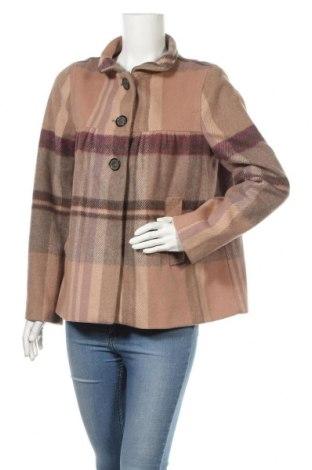 Дамско палто Zara, Размер L, Цвят Многоцветен, 75% вълна, 25% полиамид, Цена 40,32лв.