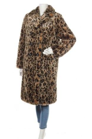 Дамско палто Zara, Размер L, Цвят Кафяв, 100% полиестер, Цена 79,00лв.