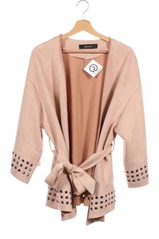 Дамско палто Zara, Размер XS, Цвят Розов, 94% полиестер, 6% еластан, Цена 42,00лв.