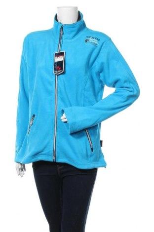 Γυναικεία ζακέτα fleece, Μέγεθος XL, Χρώμα Μπλέ, Πολυεστέρας, Τιμή 18,95€