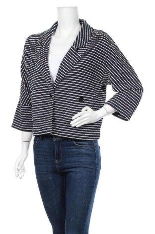 Дамско сако Alba Moda, Размер M, Цвят Син, 61% памук, 35% полиестер, 4% еластан, Цена 6,56лв.