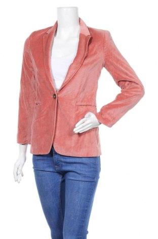 Дамско сако Caroll, Размер S, Цвят Розов, Памук, Цена 55,50лв.