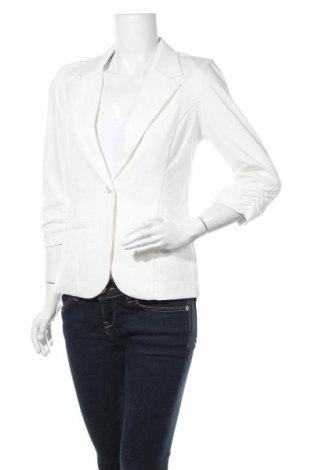 Дамско сако Fransa, Размер S, Цвят Бял, 74% памук, 21% вискоза, 5% еластан, Цена 67,20лв.