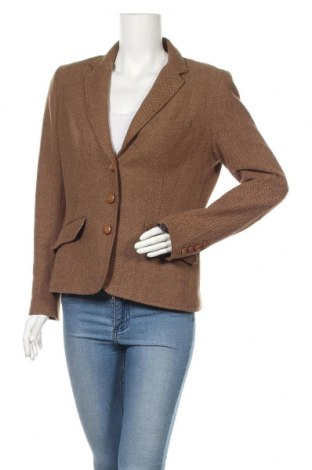 Дамско сако H&M L.O.G.G., Размер L, Цвят Кафяв, 55% вълна, 35% вискоза, 10% полиестер, Цена 33,00лв.