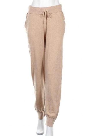 Γυναικείο αθλητικό παντελόνι Lounge Nine, Μέγεθος M, Χρώμα  Μπέζ, 80% βαμβάκι, 20% κασμίρι, Τιμή 65,33€