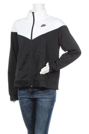 Дамско спортно горнище Nike, Размер XL, Цвят Черен, 97% полиестер, 3% еластан, Цена 57,42лв.