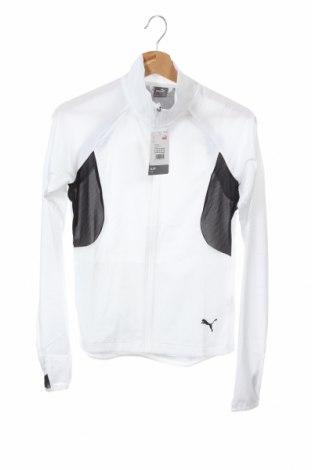 Дамско спортно горнище PUMA, Размер XS, Цвят Бял, Полиестер, Цена 53,36лв.