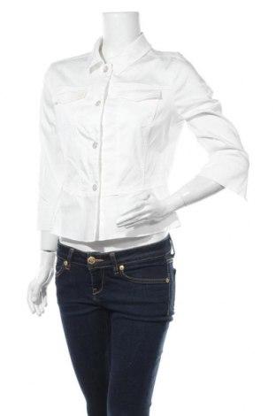 Дамско яке Comma,, Размер M, Цвят Бял, 60% лиосел, 37% памук, 3% еластан, Цена 111,75лв.