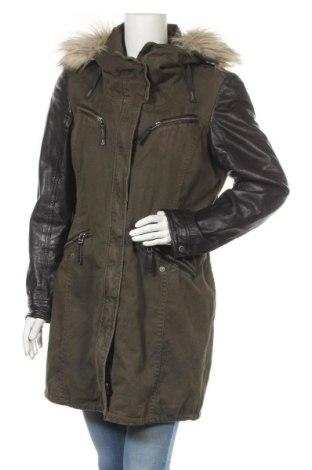 Γυναικείο μπουφάν Gipsy, Μέγεθος XL, Χρώμα Πράσινο, Βαμβάκι, γνήσιο δέρμα, Τιμή 38,19€