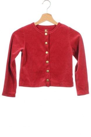 Παιδική ζακέτα Petit Bateau, Μέγεθος 6-7y/ 122-128 εκ., Χρώμα Κόκκινο, Τιμή 13,99€