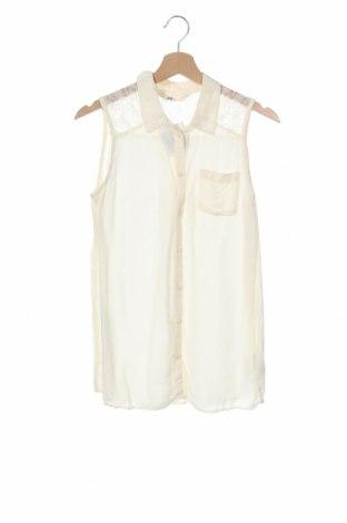 Παιδικό πουκάμισο H&M, Μέγεθος 13-14y/ 164-168 εκ., Χρώμα Εκρού, Βισκόζη, Τιμή 2,95€