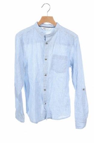 Παιδικό πουκάμισο H&M, Μέγεθος 10-11y/ 146-152 εκ., Χρώμα Μπλέ, 55% λινό, 45% βαμβάκι, Τιμή 11,82€