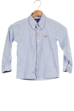 Παιδικό πουκάμισο Spagnolo, Μέγεθος 5-6y/ 116-122 εκ., Χρώμα Μπλέ, 60% βαμβάκι, 40% πολυεστέρας, Τιμή 7,11€