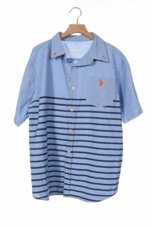 Детска риза U.S. Polo Assn., Размер 15-18y/ 170-176 см, Цвят Син, Памук, Цена 35,70лв.