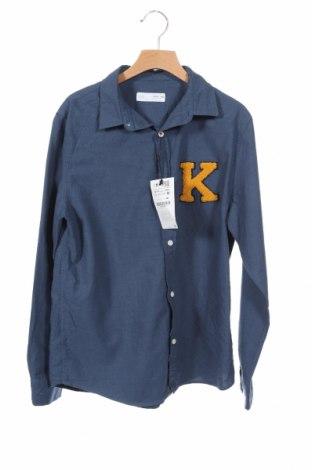 Παιδικό πουκάμισο Zara Kids, Μέγεθος 12-13y/ 158-164 εκ., Χρώμα Μπλέ, 100% βαμβάκι, Τιμή 15,14€