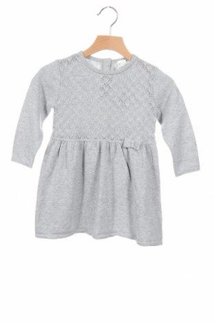Παιδικό φόρεμα H&M, Μέγεθος 9-12m/ 74-80 εκ., Χρώμα Γκρί, Βαμβάκι, Τιμή 17,37€