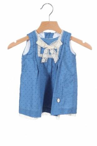 Παιδικό φόρεμα Pili Carrera, Μέγεθος 2-3m/ 56-62 εκ., Χρώμα Μπλέ, Βαμβάκι, Τιμή 19,20€