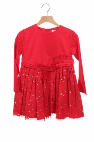 Παιδικό φόρεμα Tutto Piccolo, Μέγεθος 4-5y/ 110-116 εκ., Χρώμα Κόκκινο, 98% βαμβάκι, 2% ελαστάνη, Τιμή 17,64€