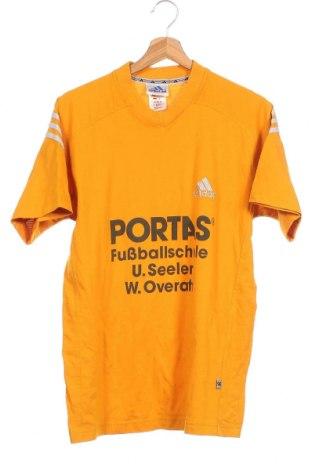Παιδικό μπλουζάκι Adidas, Μέγεθος 15-18y/ 170-176 εκ., Χρώμα Κίτρινο, 60% βαμβάκι, 40% πολυεστέρας, Τιμή 8,44€