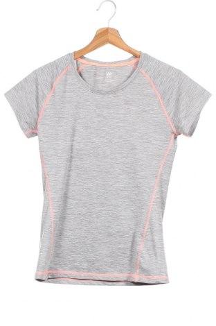 Παιδικό μπλουζάκι H&M Sport, Μέγεθος 14-15y/ 168-170 εκ., Χρώμα Γκρί, 88% πολυεστέρας, 12% ελαστάνη, Τιμή 5,00€