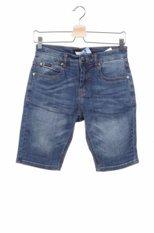 Παιδικό κοντό παντελόνι, Μέγεθος 15-18y/ 170-176 εκ., Χρώμα Μπλέ, 98% βαμβάκι, 2% ελαστάνη, Τιμή 12,11€