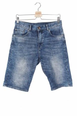 Παιδικό κοντό παντελόνι H&M, Μέγεθος 14-15y/ 168-170 εκ., Χρώμα Μπλέ, 99% βαμβάκι, 1% ελαστάνη, Τιμή 12,34€