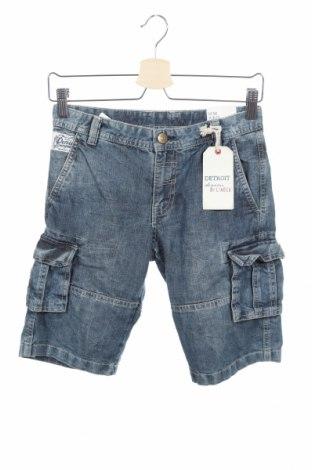 Παιδικό κοντό παντελόνι Lindex, Μέγεθος 10-11y/ 146-152 εκ., Χρώμα Μπλέ, 82% βαμβάκι, 18% πολυεστέρας, Τιμή 15,43€
