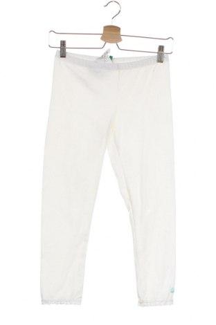 Παιδικό κολάν United Colors Of Benetton, Μέγεθος 15-18y/ 170-176 εκ., Χρώμα Λευκό, 92% βαμβάκι, 8% ελαστάνη, Τιμή 7,60€