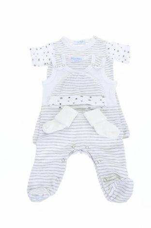 Παιδικό σύνολο Klitzeklein, Μέγεθος 3-6m/ 62-68 εκ., Χρώμα Λευκό, 98% βαμβάκι, 2% ελαστάνη, Τιμή 16,50€