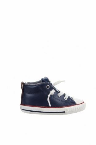 Детски обувки Converse, Размер 23, Цвят Син, Естествена кожа, Цена 60,52лв.
