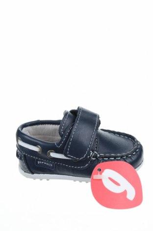 Παιδικά παπούτσια Garvalin, Μέγεθος 18, Χρώμα Μπλέ, Γνήσιο δέρμα, Τιμή 9,90€