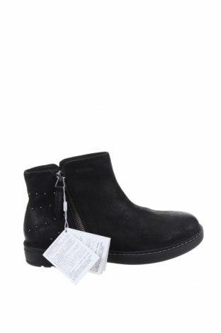 Παιδικά παπούτσια Geox, Μέγεθος 35, Χρώμα Μαύρο, Γνήσιο δέρμα, Τιμή 22,65€