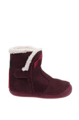 Детски обувки Kickers, Размер 22, Цвят Червен, Естествен велур, Цена 62,55лв.