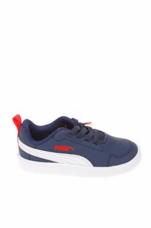 Παιδικά παπούτσια PUMA, Μέγεθος 22, Χρώμα Μπλέ, Δερματίνη, Τιμή 20,63€