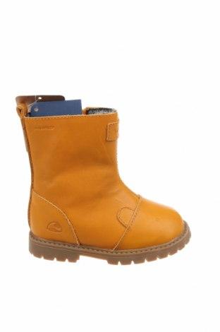 Детски обувки Viking, Размер 23, Цвят Жълт, Естествена кожа, Цена 96,75лв.
