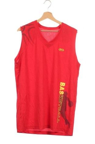 Μπλουζάκι αμάνικο παιδικό, Μέγεθος 15-18y/ 170-176 εκ., Χρώμα Κόκκινο, Πολυεστέρας, Τιμή 14,29€