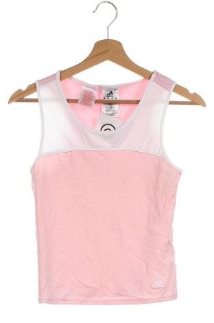Μπλουζάκι αμάνικο παιδικό Adidas, Μέγεθος 13-14y/ 164-168 εκ., Χρώμα Ρόζ , Πολυεστέρας, Τιμή 7,79€