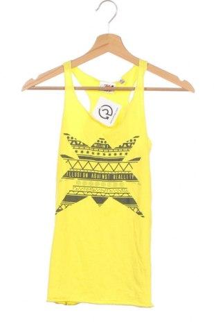 Μπλουζάκι αμάνικο παιδικό Million X, Μέγεθος 13-14y/ 164-168 εκ., Χρώμα Κίτρινο, 95% βαμβάκι, 5% ελαστάνη, Τιμή 2,95€