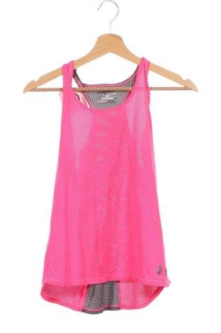 Μπλουζάκι αμάνικο παιδικό Under Armour, Μέγεθος 15-18y/ 170-176 εκ., Χρώμα Ρόζ , Τιμή 12,34€