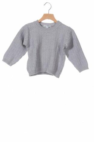 Παιδικό πουλόβερ, Μέγεθος 3-4y/ 104-110 εκ., Χρώμα Γκρί, 50% βαμβάκι, 50% μαλλί, Τιμή 12,56€