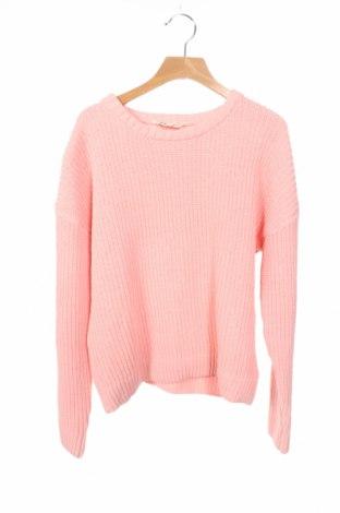 Детски пуловер Review, Размер 10-11y/ 146-152 см, Цвят Розов, Полиестер, Цена 16,80лв.