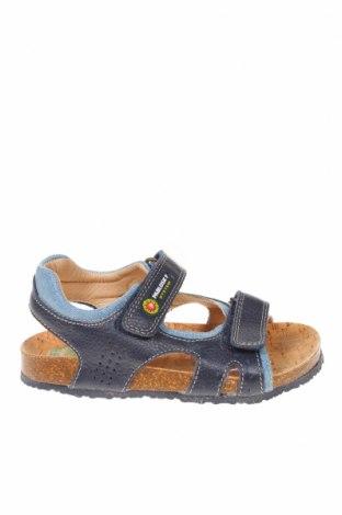 Детски сандали Pablosky, Размер 28, Цвят Син, Естествена кожа, текстил, Цена 38,35лв.