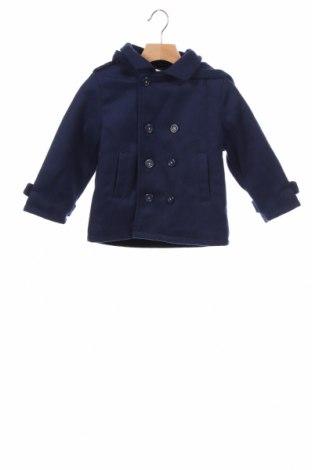 Детско палто Neck & Neck, Размер 2-3y/ 98-104 см, Цвят Син, 50% вълна, 50% полиестер, Цена 44,48лв.