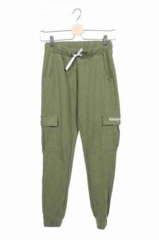 Детско спортно долнище Chiemsee, Размер 11-12y/ 152-158 см, Цвят Зелен, 95% памук, 5% еластан, Цена 28,32лв.