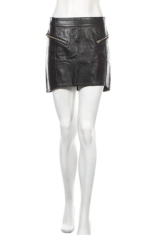Кожена пола H&M Divided, Размер M, Цвят Черен, Еко кожа, Цена 19,50лв.