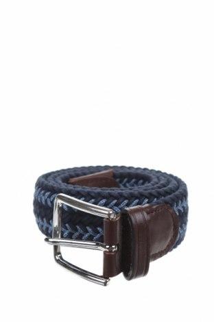 Колан Massimo Dutti, Цвят Син, Текстил, естествена кожа, Цена 24,00лв.