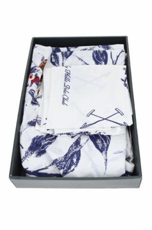 Комплект спално бельо Beverly Hills Polo Club, Цвят Бял, Памук, Цена 95,20лв.