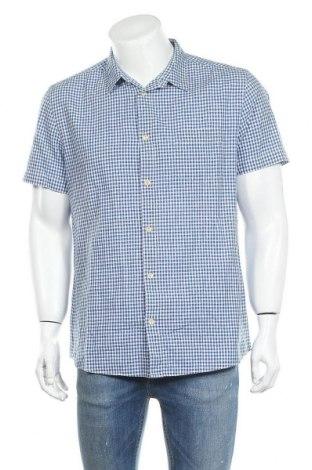 Мъжка риза COS, Размер L, Цвят Бял, 67% памук, 33% лен, Цена 26,46лв.